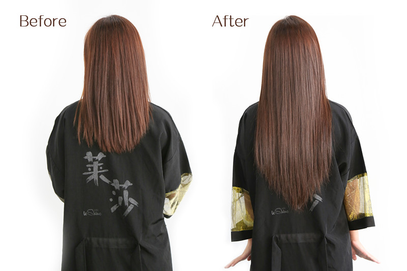 55cm Hair Extension Installation at LESHINE HAIR SALON on 1st Sep. 2017