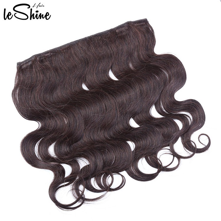Leshinehair 2017 Tangle Free Double Drawn 100% Remy Fish Wire Hair ...