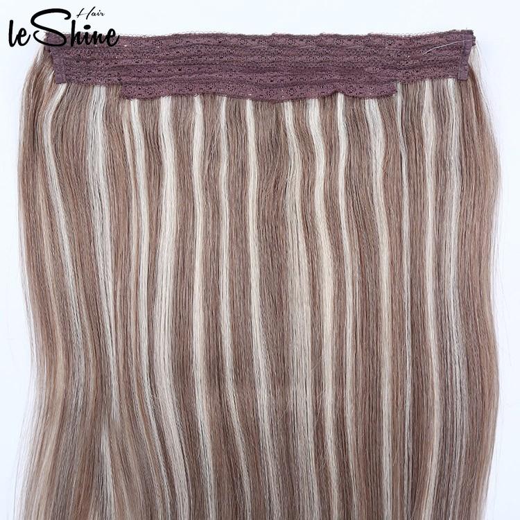 Leshinehair 100 Percent Pure Virgin Indian Remy Human Hair 100 Halo