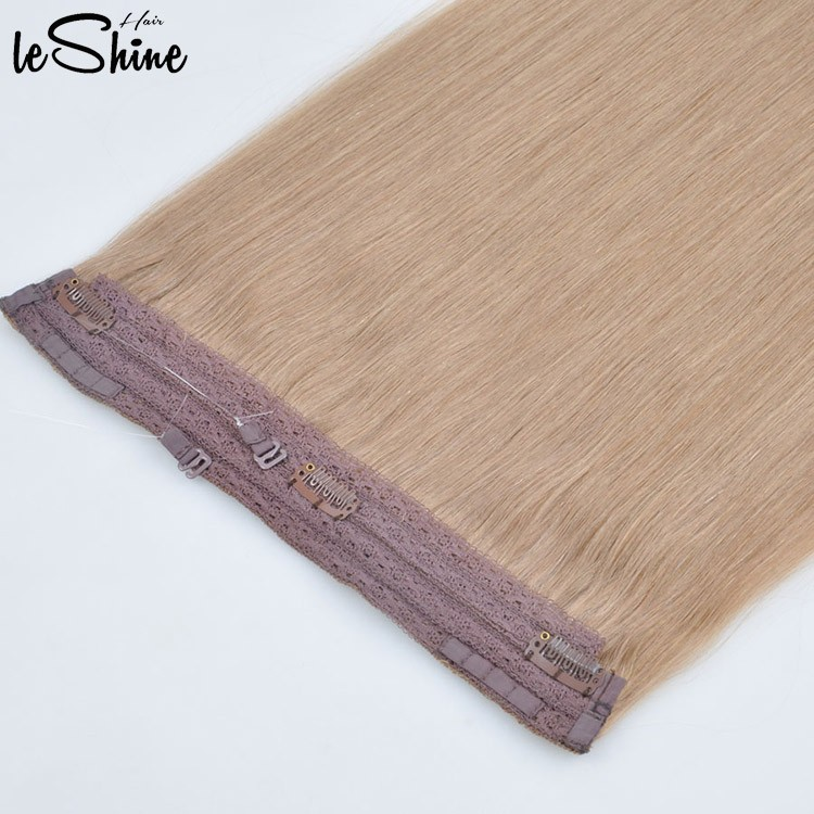 Leshinehair Wholesale African Human Halo Hair Extensions On Sale For
