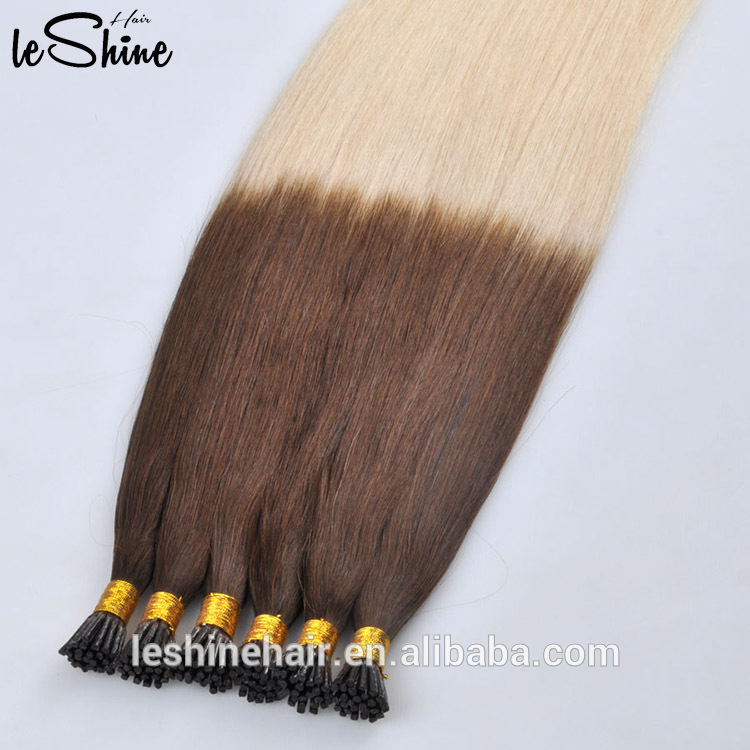 Leshinehair Full Cuticle Keratin Remy Prebonded Hair Extensions For