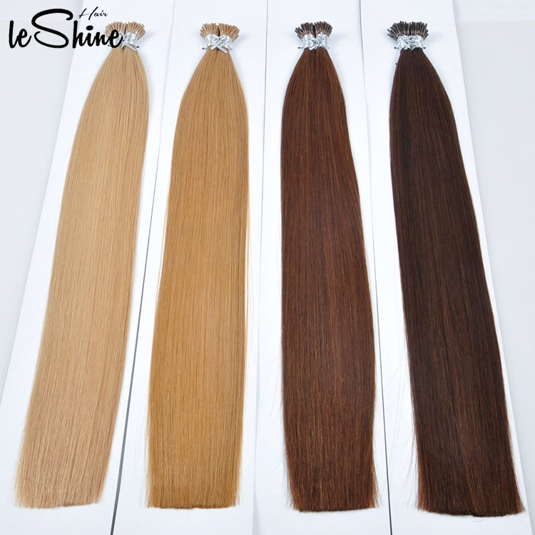 Leshinehair 10 30 Inch I Tip Hair Extensions Italian Glue 100 Human