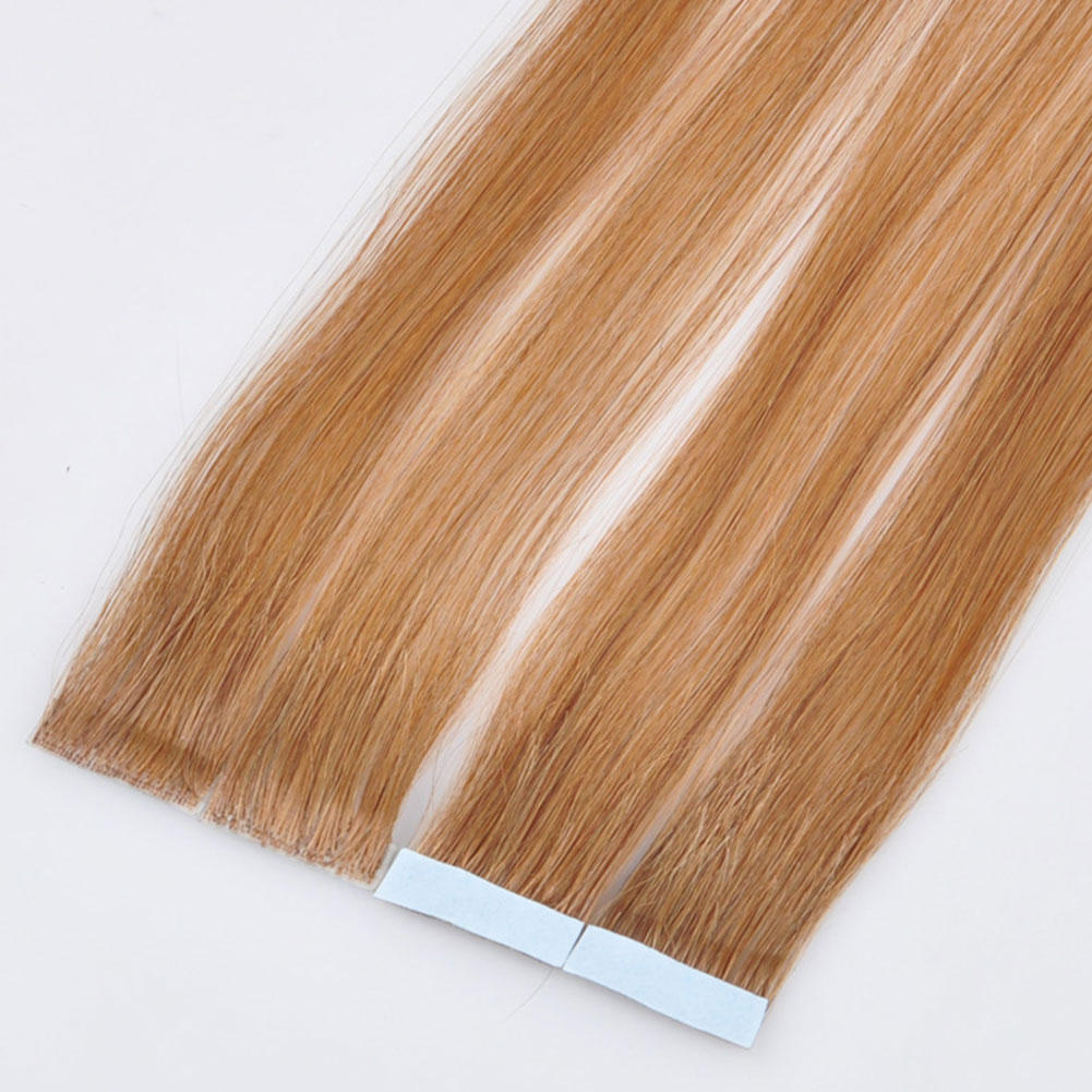 Brazilian Remy Hand Tied Tape Hair Pu Wefts No Short Hair In
